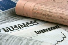 Jornal de negócio Fotos de Stock