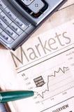 Jornal de negócio fotografia de stock royalty free