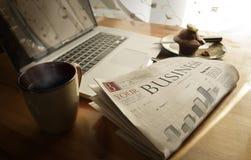 Jornal de negócio diário fotografia de stock royalty free