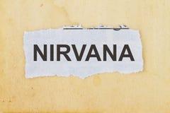 Jornal do nirvana cortado foto de stock
