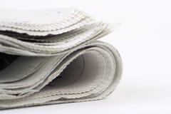 Jornal dobrado fotos de stock