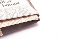 Jornal dobrado Fotografia de Stock Royalty Free