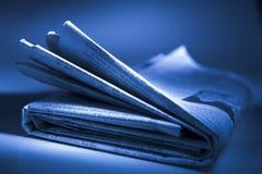 Jornal dobrado fotos de stock royalty free