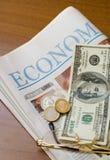 Jornal financeiro Imagem de Stock