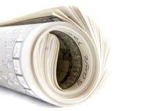 Jornal no branco Fotografia de Stock Royalty Free
