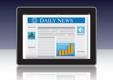 Jornal no computador Imagens de Stock Royalty Free
