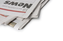 Jornal - a notícia Fotografia de Stock Royalty Free