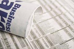Jornal - notícia de negócio Foto de Stock
