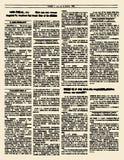Jornal velho Página do compartimento do vintage Ilustração do vetor Yello Fotos de Stock