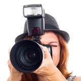 Jornalista fotográfico Fotos de Stock Royalty Free