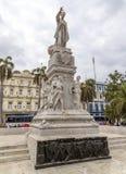 José MartÃ,哈瓦那,古巴雕象  免版税库存图片