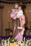 José es una figura en los evangelios, el marido de Maria, madre de Jesús, y se venera Este Saint Joseph está en el StJoshep Foto de archivo libre de regalías