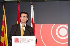 José Manuel Soria at MWC Royalty Free Stock Photo