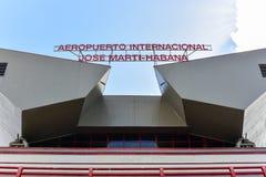 Jos Marti Airport - havannacigarr, Kuba royaltyfria bilder