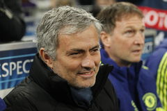 José Mourinho FC Schalke v FC Chelsea 8eme Final Champion League Royalty Free Stock Images