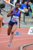 Josanne Lucas - obstacles de 400 mètres Image libre de droits