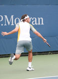 Jose Acasuso Backhand at the 2008 US Open Stock Photography