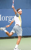 Jose Acasuso Hitting Backhand at the 2008 US Open Royalty Free Stock Images