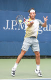 Jose Acasuso Hitting Forehand at the 2008 US Open Stock Photos