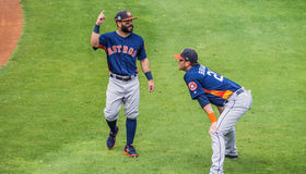 Jose Altuve Reid Brignac Houston Astros 2017. Spring Training 2017 in Florist - Jose Altuve and Reid Brignac on the field stock photos