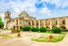 jose beskickning san i San Antonio Texas royaltyfri fotografi