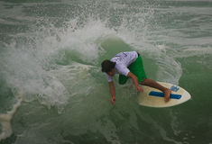 Jose Brites in International Skimboard Santa Cruz Stock Image