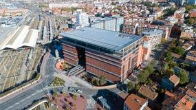 Jose Cabanis offentligt bibliotek i Toulouse royaltyfria bilder
