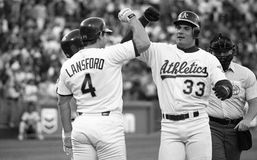Jose Canseco, Oakland Athletics #33 Imagem de Stock