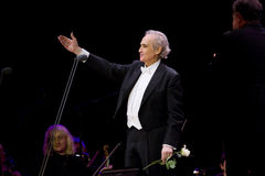 Jose Carreras à Zagreb Photographie stock libre de droits