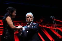 Jose Carreras och Nataliya Kovalova royaltyfri foto