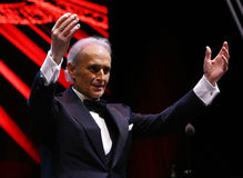 Jose Carreras. Spanish tenor Jose Carreras, pictured during his last world tour A Life In Music, at Romexpo indoor arena, in Bucharest, Romania, Thursday, 26 Stock Image