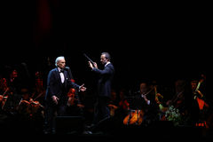 Jose Carreras and David Gimenez Royalty Free Stock Images
