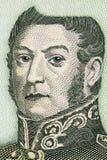 Jose de San Martin um retrato fotografia de stock royalty free