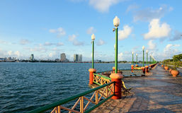 Jose Estelita Pier Recife, Pernambuco, Brasilien arkivfoton