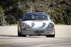 Jose Esteves drijft Porsche 911 Royalty-vrije Stock Foto's