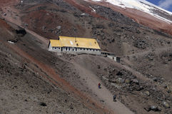 Jose F. Rivas refuge to the Cotopaxi. Ecuador Stock Image