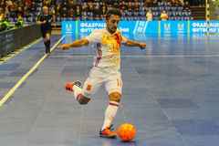 Jose A. Fernandez. KYIV, UKRAINE - JANUARY 29: Jose A. Fernandez ESP during a friendly futsal match between Ukraine and Spain in the Palace of Sports Kyiv on Royalty Free Stock Image