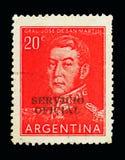 Jose Francisco de San Martin (1778-1850), serie, circa 1955 Arkivbild