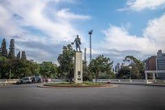 Jose Gervasio Artigas Monument på Sarmiento parkerar trappa Escaleras - Cordoba, Argentina royaltyfri foto