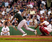 Jose Guillen, Oakland Athletics shortstop. Royalty Free Stock Images