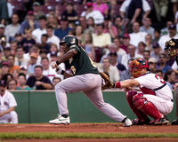 Jose Guillen, Oakland A's outfielder. Royalty Free Stock Image