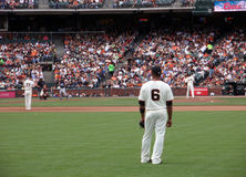 Jose Guillen stands in right field before play Royalty Free Stock Photos