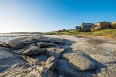 Jose Ignacio sätter på land, öst av Punta del Este, Uruguay Royaltyfri Bild