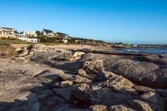 Jose Ignacio tira, ad est di Punta del Este, l'Uruguay in secco Fotografie Stock Libere da Diritti