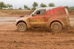 Jose Lucas drives a Mitsubishi Pajero Royalty Free Stock Photos
