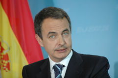 Jose Luis Rodriguez Zapatero Lizenzfreies Stockbild