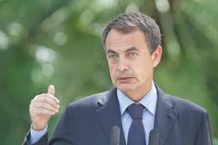 Jose Luis Rodriguez Zapatero w palmie de Mallorca Obraz Stock