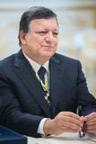 Jose Manuel Barroso. KIEV, UKRAINE - Sep 10, 2015: President of the European Commission in the years 2004-2014 Jose Manuel Barroso during a meeting with the royalty free stock photos