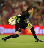 Jose Manuel Pinto of FC Barcelona stock images