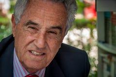 Jose Maria Carrascal bij de boekenbeurs in Madrid in Juni 2010 royalty-vrije stock afbeelding